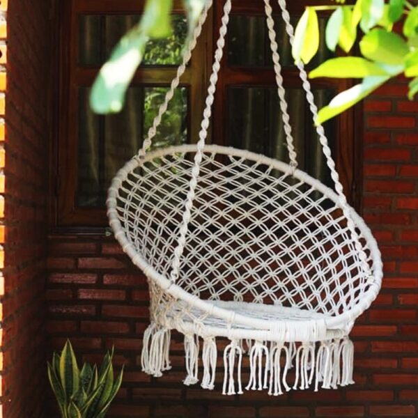 Ghe Luoi Home Dream Xich Du Macrame White