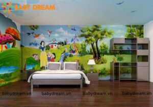 Baby Dream Tranh Ve Tuong Bach Tuyet