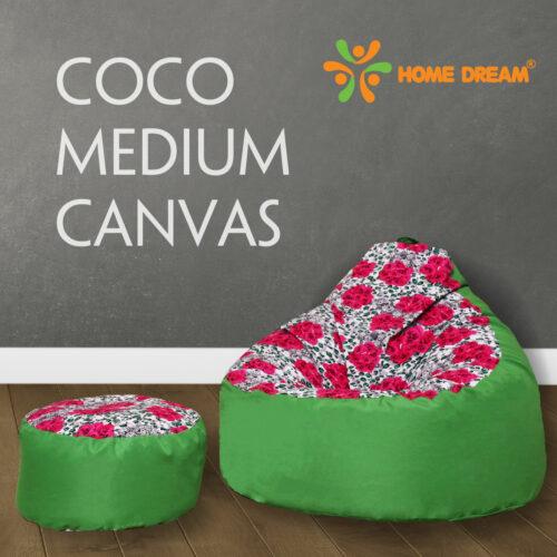 Ghe Luoi COCO Canvas Medium Rose Green