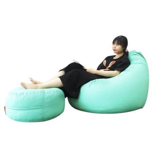 combo ghế lười coco size M xanh mint
